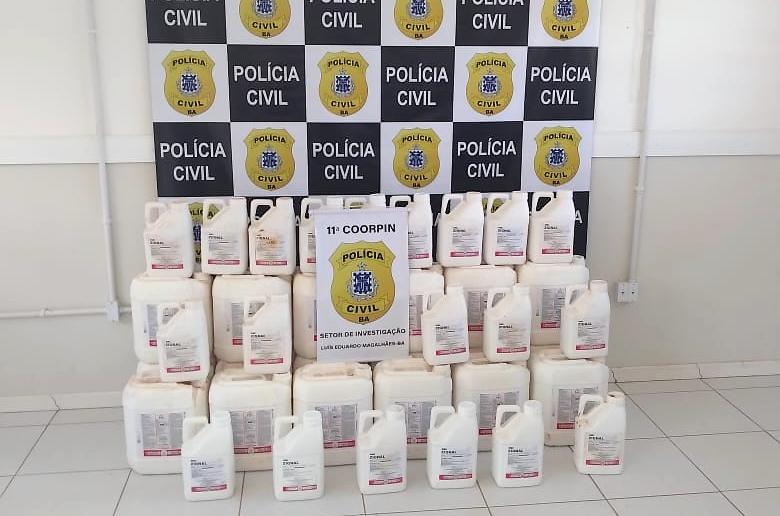 Operação apreende R$ 2 milhões em pesticidas roubados